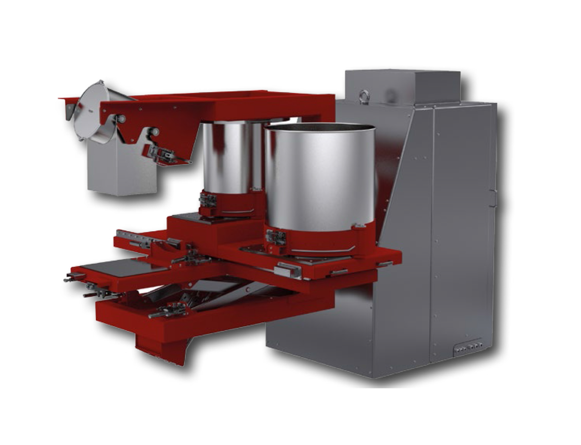 2D mixer with Muhr Spraying System